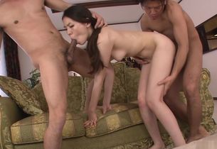 Japanese gang-fuck to satisfy..