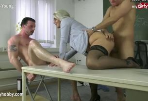 Mydirtyhobby three way with school..