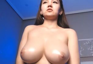 Japanese with puffy fabulous boobies..