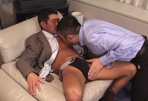 Chinese Mature Suit Boy And Manager